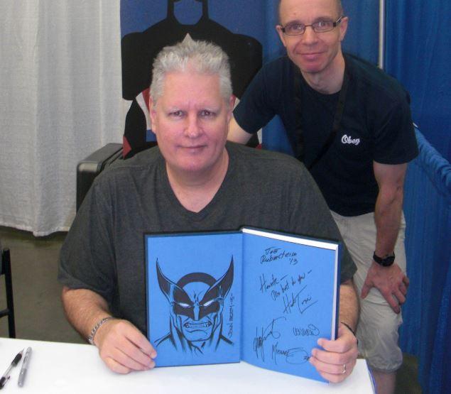 John Beatty lavede en super Wolverine tegning i min bog.