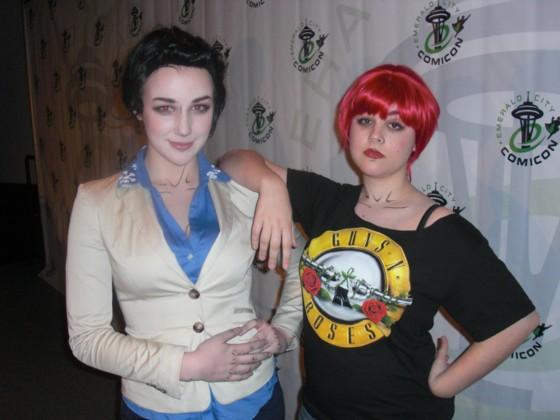 Der var også fans til Fables foredraget, som var klædr ud af nogen af figurerne. Her er det søstrene  Snow White & Rose Red.