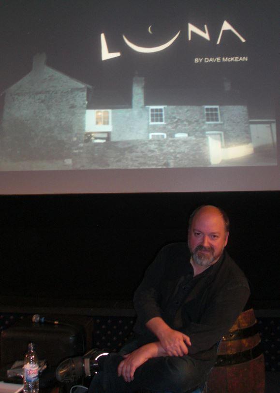 Dave McKean til præsentationen af hans film Luna.