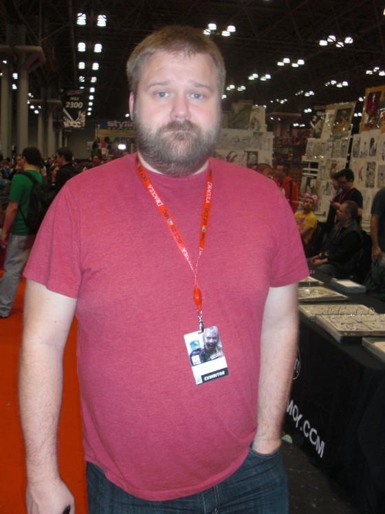 Det måske mest jaget person på New York messen. Robert Kirkman forfatter og skaber af serien Walking Dead.