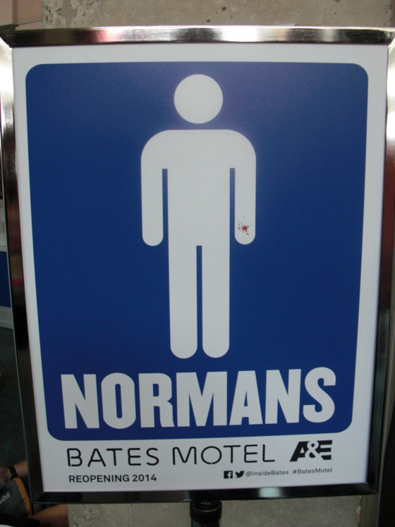 Dette skilt var uden for alle WC på messen. Den kommer nok en ny film næste år....