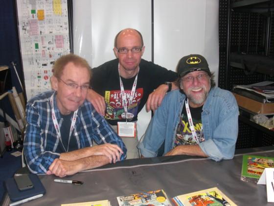 Messe gæst Gerry Conway (tv) og Wolverines skaber (som han nu kendes som) Len Wein (th).