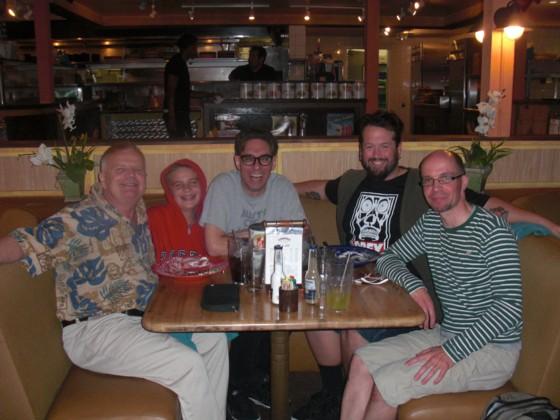 Middag sent søndag aften med gode venner.