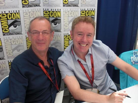 Dave Gibbosn (tv) og Mark Millar havde en lille uannonceret signering fredag eftermiddag, som jeg var heldig at komme til.