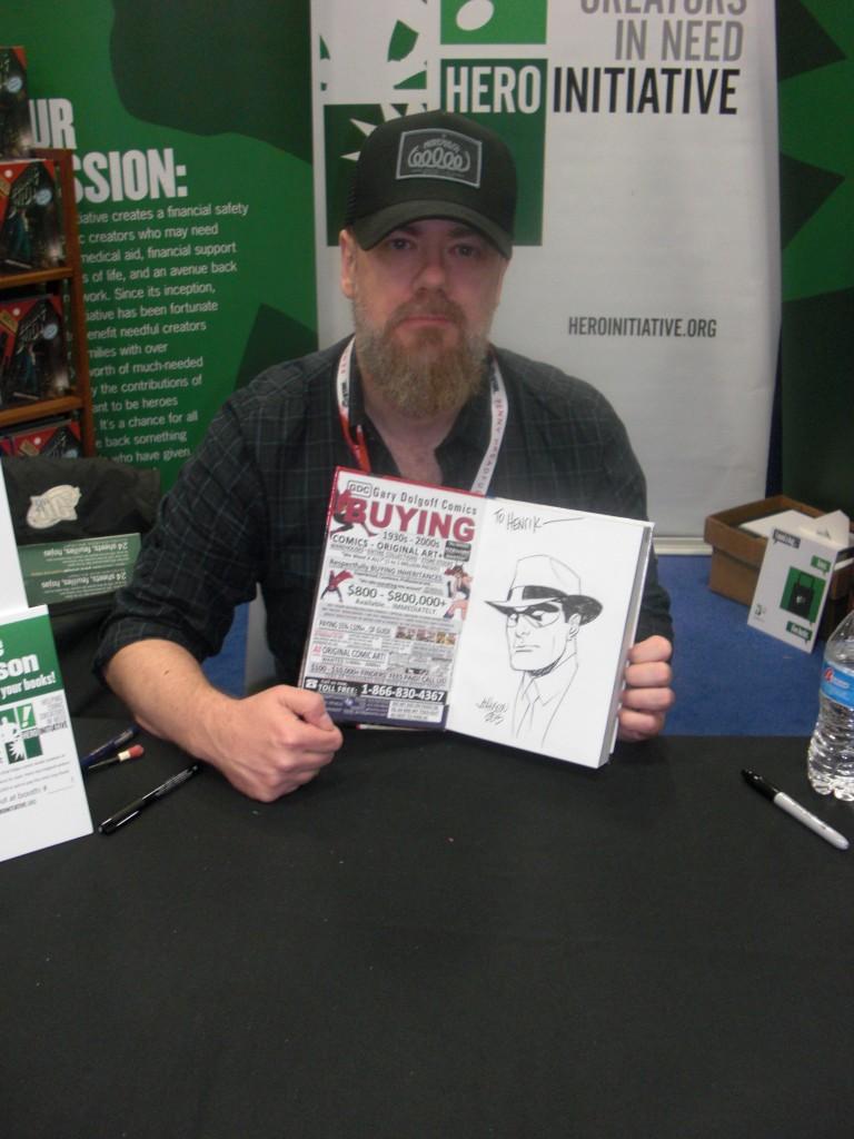 Dave Johnson lavede en fin Spirit tegning til mig i den nyeste Overstreet Priceguide, hvor han har lavet en Spirit forside til variant udgaven som H.E.R.O. udgav.