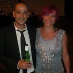 David Aja og hans kone var også til Eisner Awards fredag aften.
