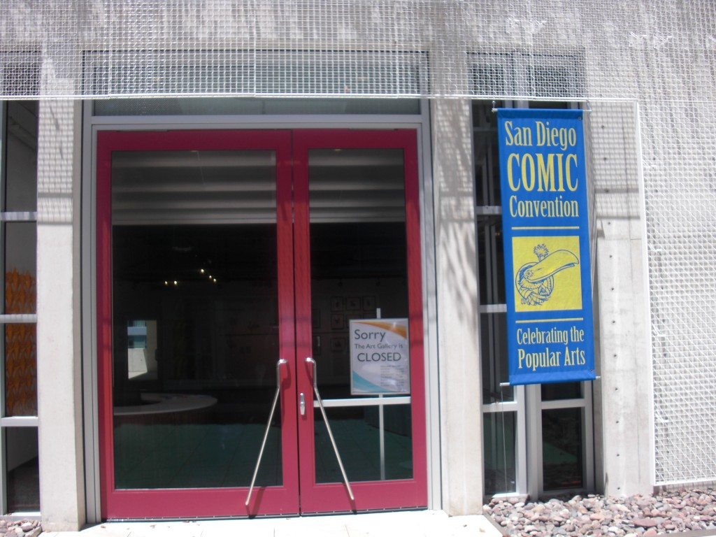 San Diego messens udstilling på biblioteket var desværre lukket mandag. Suk….