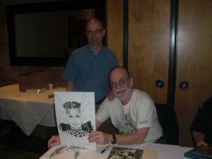 Walter Simonson og undertegnede til middag sammen, hvor jeg fik overrakt min Sif tegning + diverse bøger