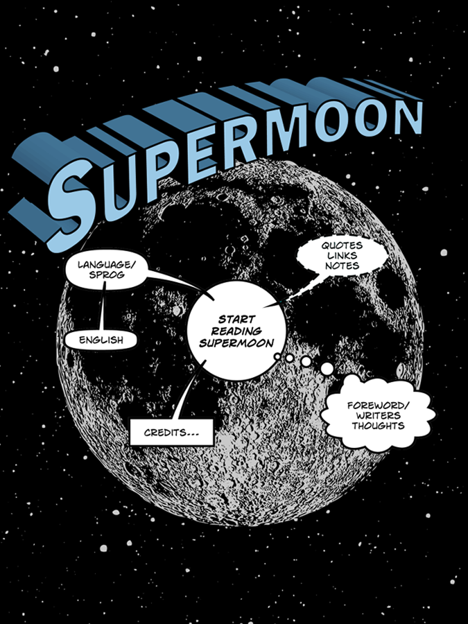 Supermoon ipad comic tegneserie forside cover