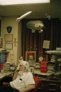 William M. Gaines fra MAD, taget af Martin Bigum selv på et besøg i 1991.