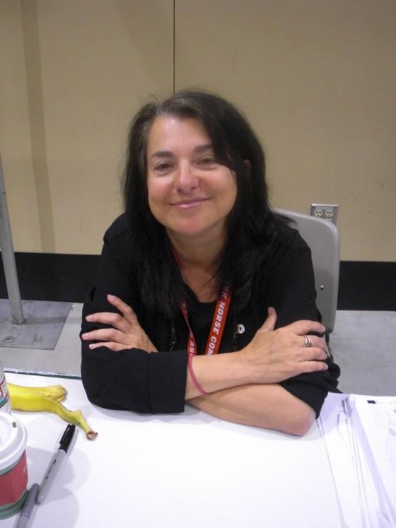 Forfatter Ann Nocenti, der var en meget populær gæst på messen.