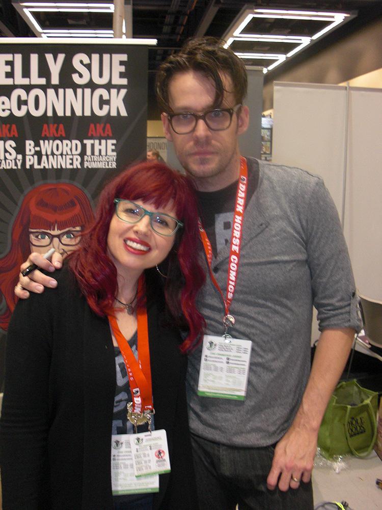 Matt Fraction og hans bedre halvdel Kelly Sue DeConnick, som måske om nogen er tidens trendsættere indenfor tegneserie forfattere.