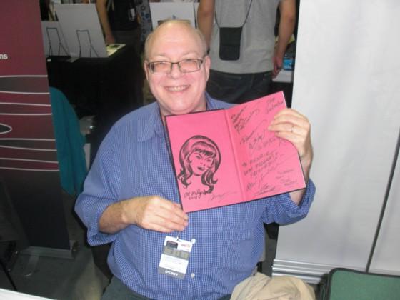 Gode gamle Al Migrom var også til stede på messen, og ham fik jeg også til at lave en tegning i en af mine medbragte tegneserier.