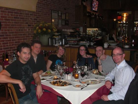 Hyggelig middag mandag aften i gode venners selskab. God afslutning på min tur til New York.